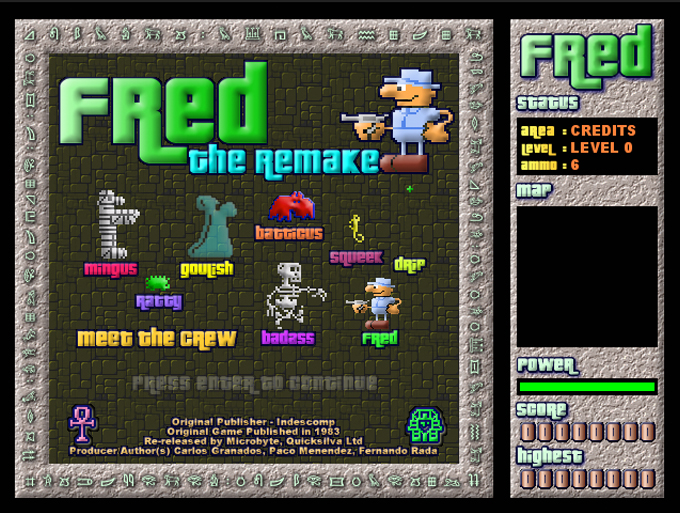 Fred: The Remake | Retro Asylum